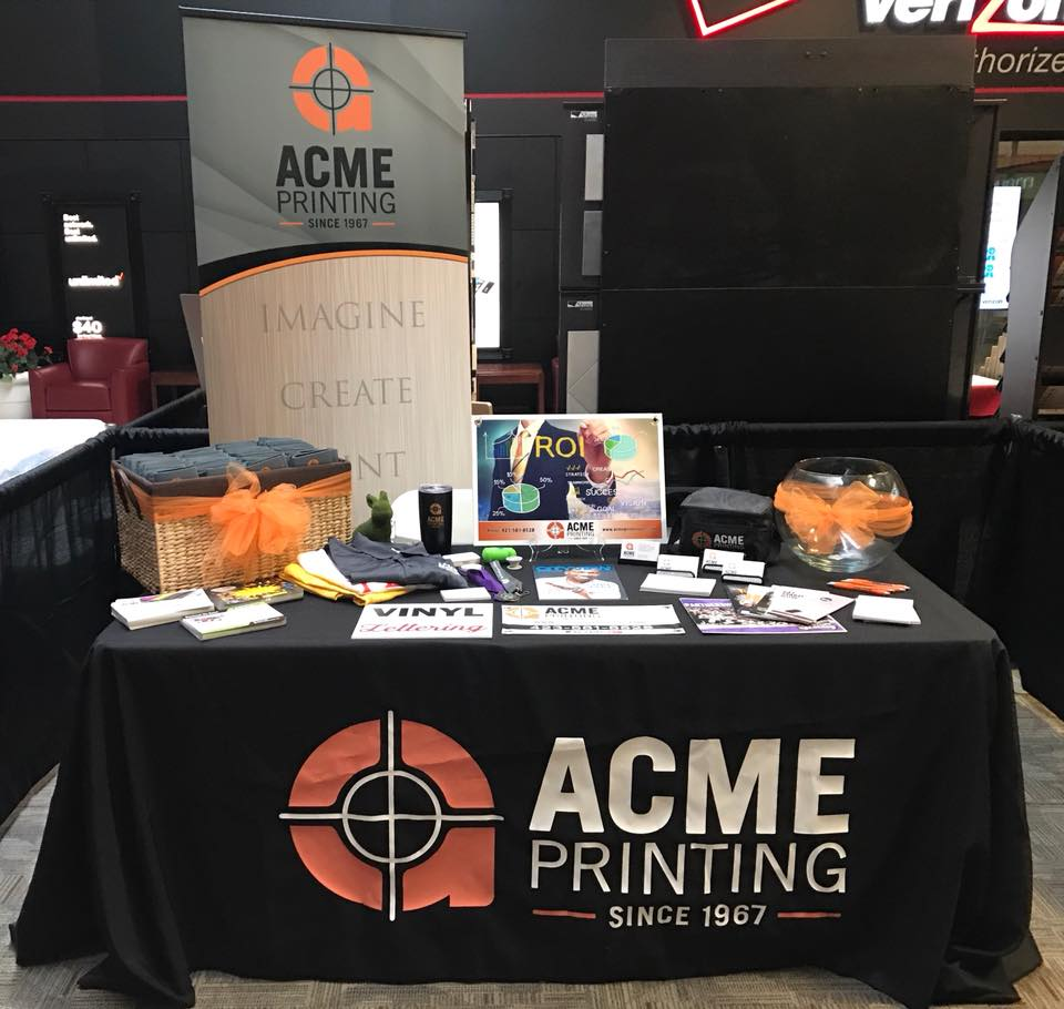 Acme Printing from Morristown, TN's trade show booth