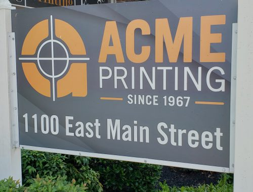 Acme Printing sign in Morristown, Tennessee